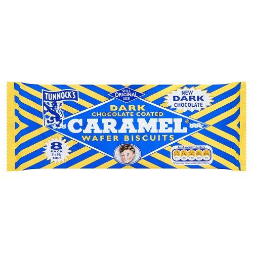 Tunnocks Caramel Wafers Milk Chocolate 4pk